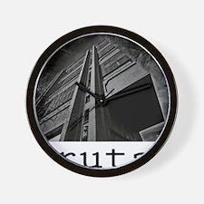 brutalism Wall Clock
