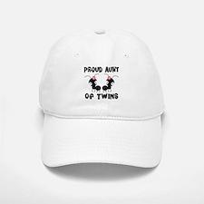 Proud Aunt Of Twins Baseball Baseball Cap