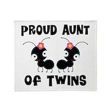 Proud Aunt Of Twins Throw Blanket