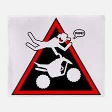 Stickman Air Danger Signs Throw Blanket