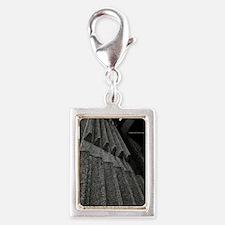brutalism Silver Portrait Charm