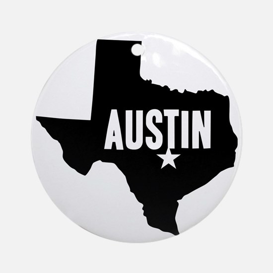 Austin, TX Round Ornament