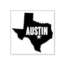 "Austin, TX Square Sticker 3"" x 3"""