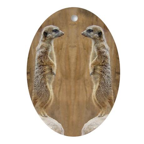 Meerkat Oval Ornament
