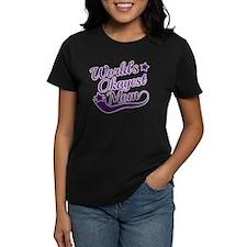 World's Okayest Mom Purple Tee