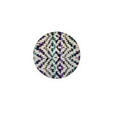 Square Saori Woven Mini Button