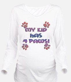 my kids have 4 paws sq sunset.png Long Sleeve Mate