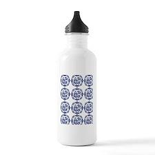 blue delft Water Bottle
