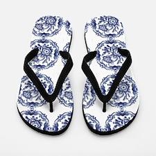 blue delft Flip Flops
