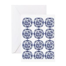 blue delft Greeting Card