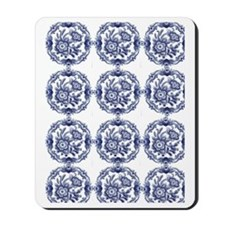 blue delft Mousepad