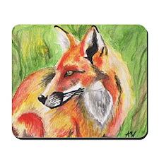 Watercolor Fox Mousepad