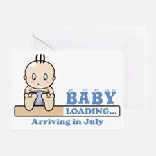 Arriving in July Greeting Card
