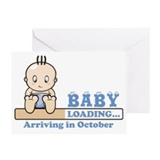 Arriving in October Greeting Card