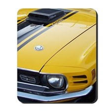 Yellow Ford Mustang CobraJet Mousepad