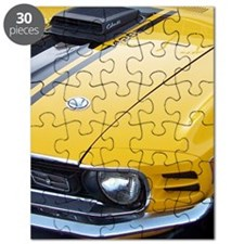 Yellow Ford Mustang CobraJet Puzzle