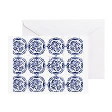 blue delft horizi Greeting Card