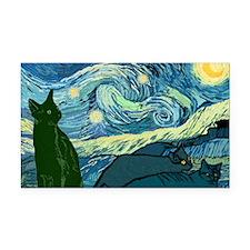 Van Goghs Cats Rectangle Car Magnet