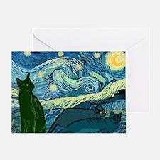 Van Goghs Cats Greeting Card