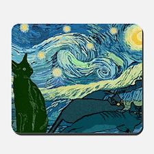 Van Goghs Cats Mousepad