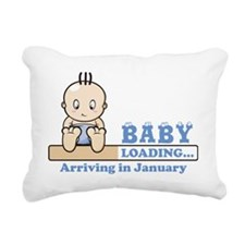 Arriving in January Rectangular Canvas Pillow