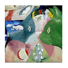 Chagalls Cats Tile Coaster