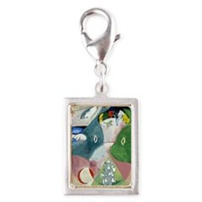 Chagalls Cats Silver Portrait Charm