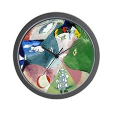 Chagalls Cats Wall Clock