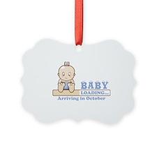Arriving in October Ornament