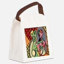 Picassos Cat Canvas Lunch Bag