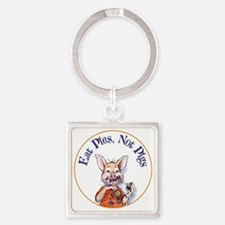 Eat Pies not Pigs Square Keychain
