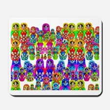 Russian dolls 5 horizi Mousepad