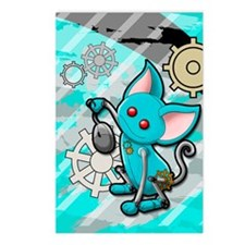 Robot cat Postcards (Package of 8)