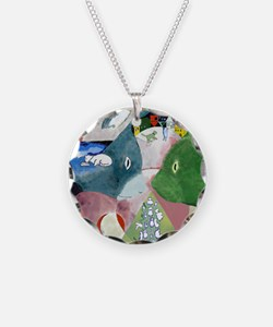 Chagalls Cats Necklace