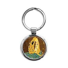 Klimts Kats Round Keychain