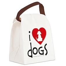 I Heart Dgos Canvas Lunch Bag