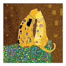 "Klimts Kats Square Car Magnet 3"" x 3"""