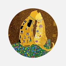 "Klimts Kats 3.5"" Button"