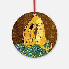 Klimts Kats Round Ornament