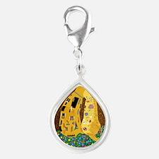 Klimts Kats Silver Teardrop Charm