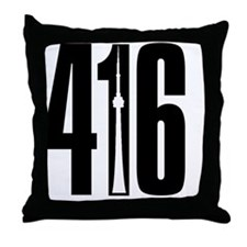 416 CN TOWER SILHOUETTE Throw Pillow