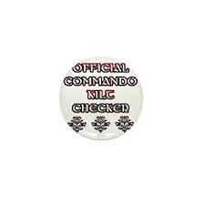 Commando Kilt Checker Mini Button