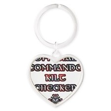 Commando Kilt Checker Heart Keychain