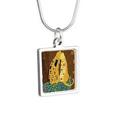 Klimts Kats Silver Square Necklace