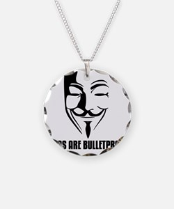 Ideas are Bulletproof - V fo Necklace