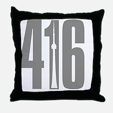 416 CN TOWER Gray Throw Pillow