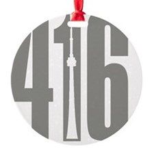 416 CN TOWER Gray Ornament