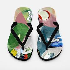 Chagalls Cats Flip Flops