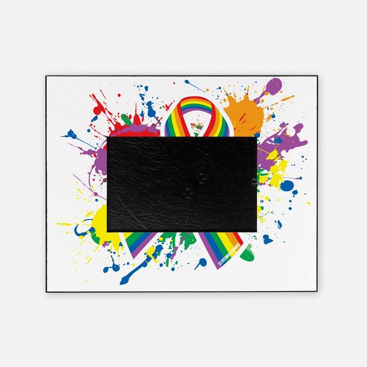 LGBTQ Paint Splatter Picture Frame