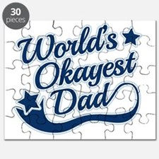 Worlds Okayest Dad Blue Puzzle